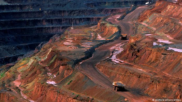 Mina de mineral de hierro en Brasil.