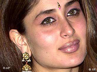 Indische Filmschauspielerin blaues Filmvideo