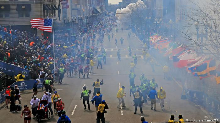 Two explosions went off at the Boston Marathon finish line on April 15, 2013 killing three people and injuring 264