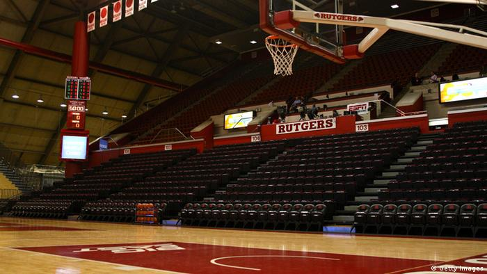 NEW BRUNSWICK, NJ - FEBRUARY 19: A general interior view of an empty gym prior to the Rutgers Scarlet Knights hosting the Syracuse Orange at Louis Brown Athletic Center on February 19, 2012 in New Brunswick, New Jersey. (Photo by Chris Chambers/Getty Images)