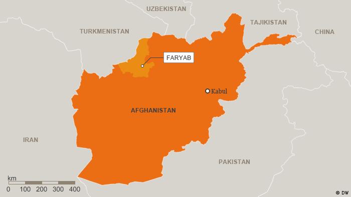Karte Afghanistan Provinz Faryab Englisch