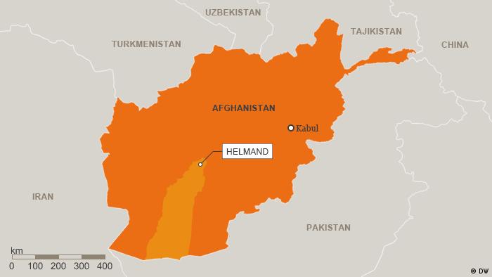 Karte Afghanistan Provinz Helmand Englisch