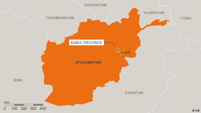 Karte Afghanistan Provinz Kabul Englisch