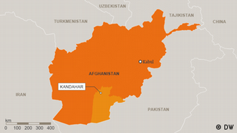 Map of Kandahar province (DW)