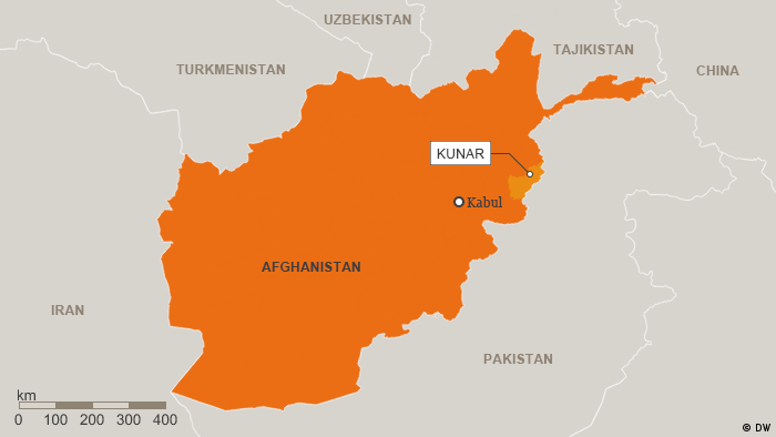 Map of Afghanistan showing Kunar province