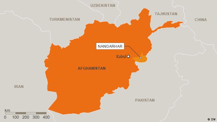 Karte Afghanistan Provinz Nangarhar Englisch