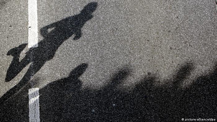 Тень участника марафона