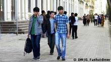 Tadschikistan Straßenszene in Duschanbe