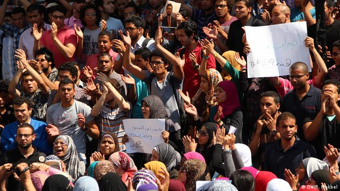 Violence in Egyptian Universities reflect wide political polarization. a Photo of students from different universities were rallied in High court of Justice to protest against bullying acts and violence in Universities on Sunday.