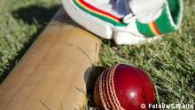 Symbolbild Cricket Ball Schläger und Handschuh