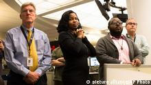 Members of the Associated Press Headquarters newsroom await the announcement of the 2013 Pulitzer Prize awardees, Monday, April 15, 2013, in New York. Associated Press photographers Rodrigo Abd, Manu Brabo, Narciso Contreras, Khalil Hamra, and Muhammed Muheisen won the 2013 Pulitzer Prize for Breaking News Photography for their work covering the Syrian civil war. (AP Photo/John Minchillo) pixel