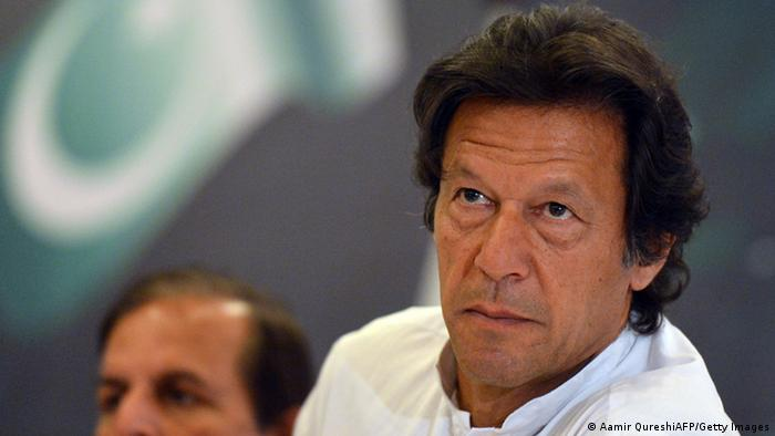 Cricket legend and Chairman of Pakistan Tehreek-e-Insaaf (PTI) or Movement for Justice party, Imran Khan attends the unveiling of his party manifesto for the forthcoming general election in Islamabad (Photo: AAMIR QURESHI/AFP/Getty Images)