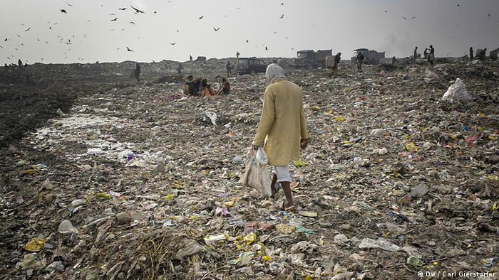 Plastic waste in India (Photo: DW / Carl Gierstorfer)