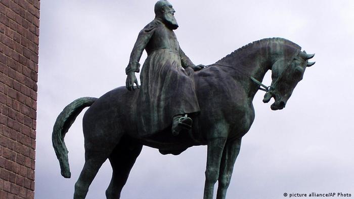 Belgien König Leopold II Denkmal in Kinshasa Archiv 2005