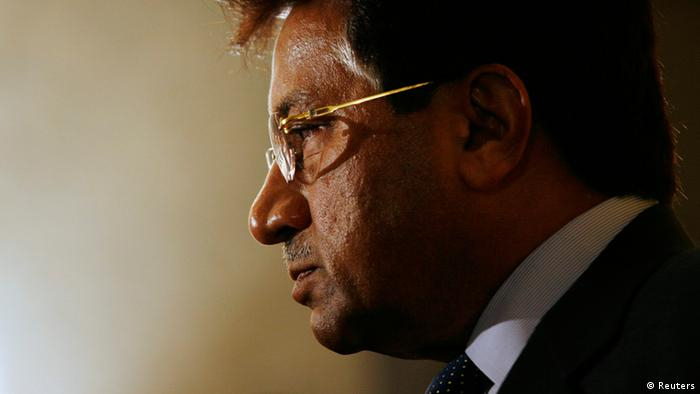 Former Pakistan President Pervez Musharraf meets journalists after attending the CLSA Investors Forum in Hong Kong in this September 15, 2010 file photo. A Pakistani court ordered the arrest of Musharraf on April 18, 2013 in connection with charges relating to his showdown with the judiciary in 2007 when he was still in power, television channels and one of his aides said. REUTERS/Bobby Yip (CHINA - Tags: POLITICS)
