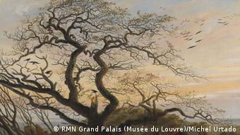 painting of tree by Caspar David Friedrich, L'Arbre aux corbeaux, 1822, huile sur toile Paris, musée du Louvre © RMN Grand Palais (Musée du Louvre)/Michel Urtado. .