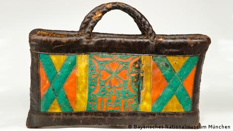 A rural women's handbag made from leather.