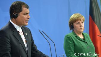 Bundeskanzlerin Merkel und Rafael Correa, Präs. von Ecuador, Bundeskanzleramt, Berlin 17.04.2013 Bild: Banchón