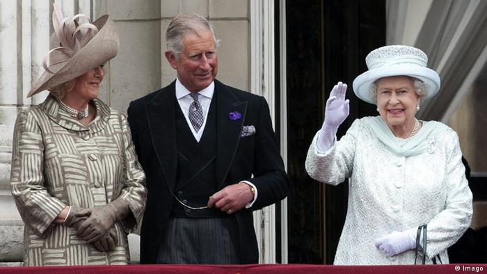 Queen Elizabeth II (right) with Charles and Camilla on the balcony of Buckingham Palace (photo: i-Images i-Images)