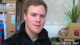 Dennis Mader von der Landesschülervertretung Berlin (Foto: DW/Bueß).