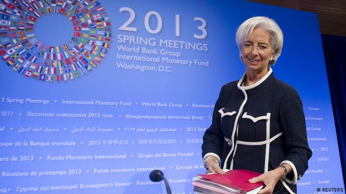 International Monetary Fund (IMF) Managing Director Christine Lagarde SAUL LOEB/AFP/Getty Images