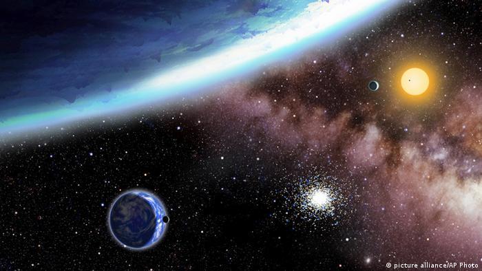 Computerzeichnung des Planeten Kepler-62e