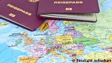 Symbolbild deutscher Reisepass EU Europa Reisefreiheit Deutschland