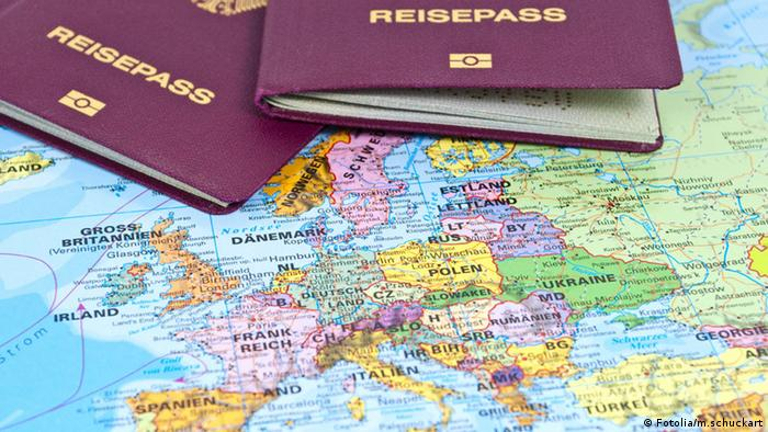 German passports resting on map of Europe (© m.schuckart - Fotolia.com)