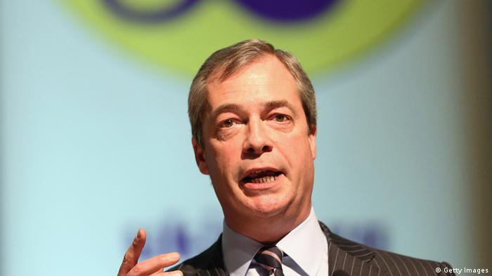 Der Chef der Partei UKIP, Nigel Farage (Foto: Getty Images)