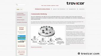screenshot Trovicor Sreenshot, 19.04.2013 The trovicor Monitoring Center trovicor.com/en/our-offerings-en/communication-monitoring-en.html