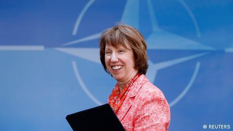 Die Hohe Vertreterin für die europäische Außen- und Sicherheitspolitik und Vizepräsidentin der Kommission der EU-Außenpolitik Catherine Ashton in Brüssel.
