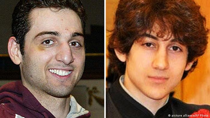 These photos show Tamerlan Tsarnaev, 26, left, and Dzhokhar Tsarnaev, 19, both suspects in the Boston Marathon bombing. (AP Photo/The Lowell Sun & Robin Young)