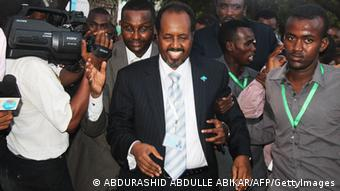 Somalia's newly elected President Hassan Sheikh Mohamud is pictured after winning a majority of votes in Mogadishu. ABDURASHID ABDULLE ABIKAR/AFP/GettyImages)