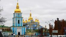 KIEV, UKRAINE - NOVEMBER 10: General view of St. Michael's Golden-Domed Monastery on November 10, 2011 in Kiev, Ukraine. Kiev is the capital and the largest city of Ukraine. The 2012 UEFA European Football Championship (EURO 2012) will take place in four Polish and four Ukrainian cities with the final match in Kiev. (Photo by Joern Pollex/Getty Images)