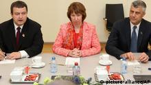 EU Außenpolitik Ashton, Dacic und Thaci in Brüssel OVERLAY