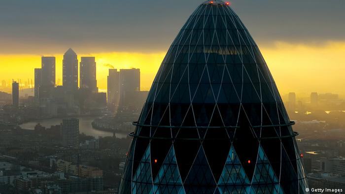 The sun rises over the City of London on February 25, 2010 in London, United Kingdom. (Photo: Dan Kitwood/Getty Images)