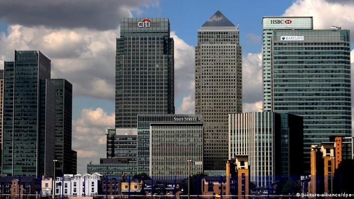 London Canary Wharf Banken Finanzen