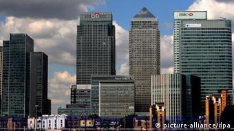 London Canary Wharf Banken Finanzen