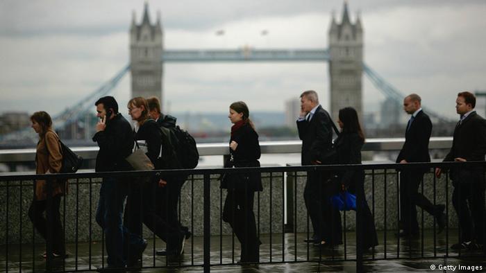 City of London: Menschen auf dem Weg zur Arbeit (Foto: Getty Images)