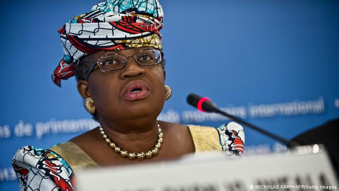 Nigerian Finance Minister Ngozi Okonjo-Iweala speaks at a press conference of African finance ministers at the 2013 World Bank/IMF Spring meetings in Washington on April 20, 2013. AFP PHOTO/Nicholas KAMM (Photo credit should read NICHOLAS KAMM/AFP/Getty Images)