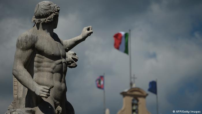 Picture of a statue in front of the Quirinale palace Photo: FILIPPO MONTEFORTE/AFP/Getty Images)