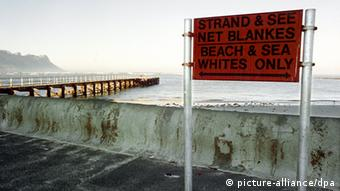 A beach reserved for whites in South Africa under apartheid.
