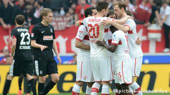 Stuttgart players celebrate