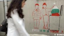 Autor:BGNES Die Fotos zeigen Grafittis in Sofia, Bulgarien