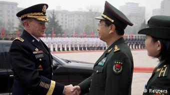 USA Generalstabschef Dempsey in Peking 22.04.2013