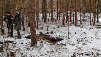 The Brandenburg forest where hundreds of thousands of bodies could still lie buried today (Photo: Emma Wallis)
