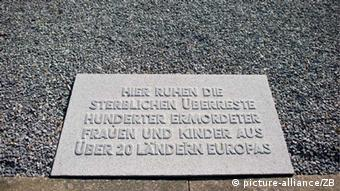 Memorial plaque at Ravensbrück, Copyright: picture-alliance/ZB