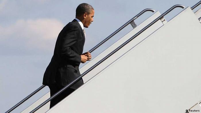 U.S. President Barack Obama boards the Air Force One (Foto: Reuters) / wa