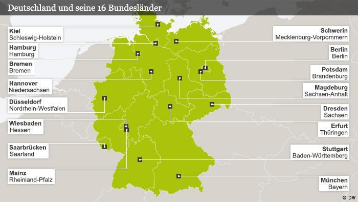 Hauptstadt deutschland karte bundesländer Bundesländer
