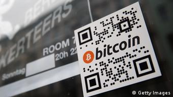 The word bitcoin in a QR code Photo by Sean Gallup/Getty Images